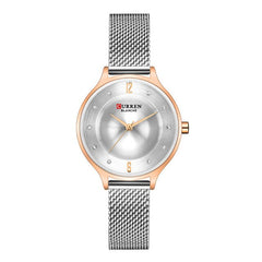 Fashion Mesh Womens Watches CURREN Ladies Dress Wristwatch With Steel Band Female Bling Rhinestone Dial Clock Relogio Feminino - Slabiti