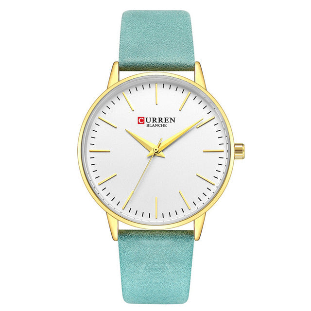 Fashion Quartz Women's Watch 2018 CURREN Womens Watches Simple Leather Girls Wristwatch Ladies Dress Clock Reloj Mujer Gifts - Slabiti