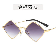 Fashion Retro Diamond Sunglasses Women Sun Glasses Lens Alloy Sunglasses Female Eyewear Frame Driver Goggles Sungalsses Men - Slabiti