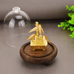 Feng shui Lucky bamboo Bonsai 24K Gold foil Ornaments Fortune bamboo Artificial plants Collect Wealth Desktop Home Office decor - Slabiti