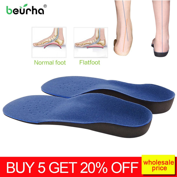 Flat Feet Foot protectors Hallux Valgus Correction Orthotic Insoles Orthotic Orthotics Insole Plantar Fasciitis File For Heels - Slabiti