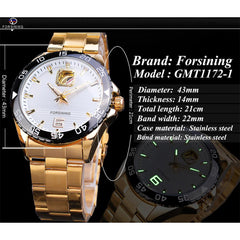 Forsining Mechanical Golden Mens Watch Top Brand Luxury Business Male Watches Business Automatic New Arrival Fashion Man Clock - Slabiti