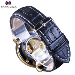 Forsining Men Of Taste Series Transparent  Men Automatic Self Wind Wrist Watches Top Brand Luxury Skeleton Mechanical Men Watch - Slabiti
