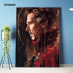 Frameless Picture On Wall Acrylic Paint By Numbers DIY Painting By Numbers Unique Gift Oil Painting The Avengers Doctor Strange - Slabiti