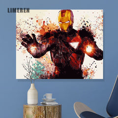 Frameless Picture On Wall Acrylic Paint By Numbers DIY Painting By Numbers Unique Gift Oil Painting The Avengers iron man - Slabiti