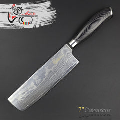 HAOYE damascus vegetable knives Asian kitchen knife high quality vg10 multilayer steel fashion gift - Slabiti