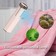 Handheld Portable UV Germicidal Light USB Rechargeable Folding UVC Disinfection Sterilizer Lamp with Metal Trim - Slabiti