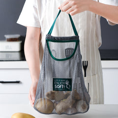 Hanging Mesh Bags Reusable Hollow Net Bag Organizer Holder Storage for Bathroom Shower cosmetics Kitchen Vegetables - Slabiti