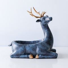 Home Decoration accessories modern for home Desktop key and phone storage box for living room - resin Deer Figurines Gifts - Slabiti