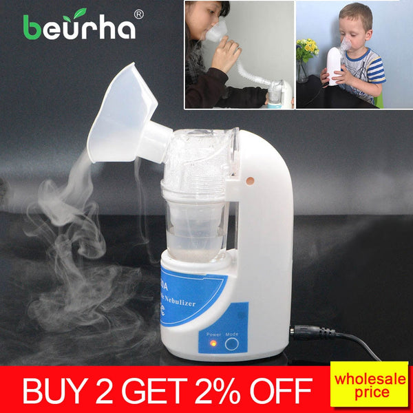 Home Portable Ultrasonic Nebulizer Children inhalator Adults Atomizer Inhaler Health Medical Asthma Inhalers Inhale Humidifier - Slabiti