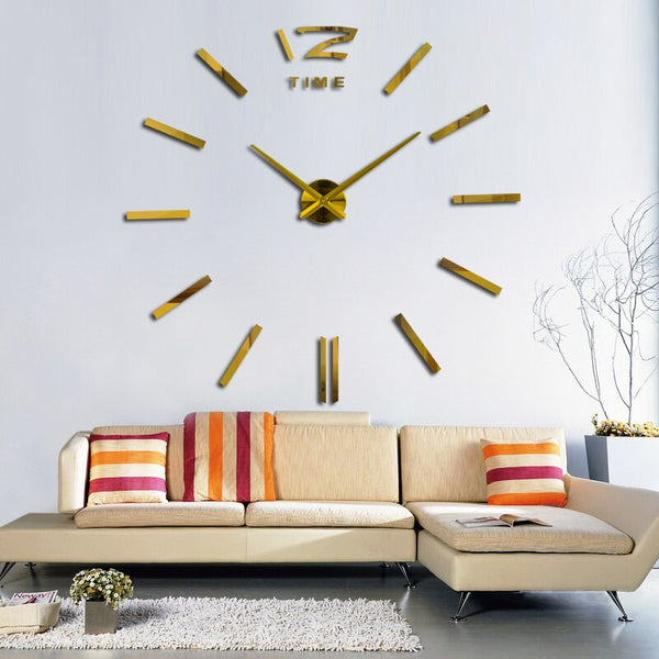 Hot Sale Wall Clock Watch Clocks 3d Diy Acrylic Mirror Stickers Living Room Quartz Needle Europe horloge clocks Morden Desgin - Slabiti
