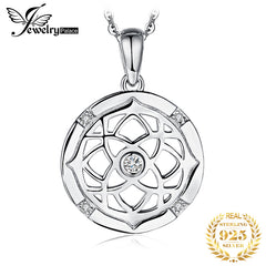 Irish Celtics Knot Silver Pendant Necklace 925 Sterling Silver Choker Statement Necklace Women Silver 925 Jewelry Without Chain - Slabiti
