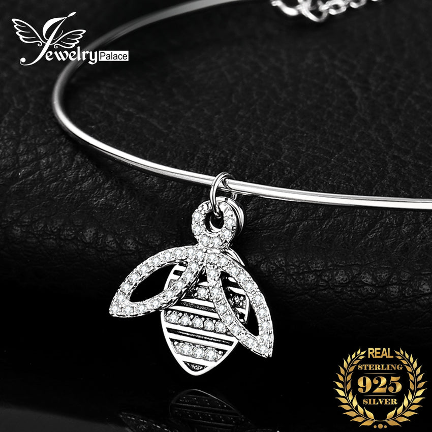 JPalace Bee Silver Bracelet Charm Bracelet Bangles 925 Sterling Silver Gemstones Bracelets For Women Silver 925 Jewelry Making - Slabiti