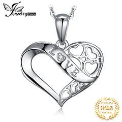 JPalace Infinity Silver Pendant Necklace 925 Sterling Silver Choker Statement Necklace Women Silver 925 Jewelry Without Chain - Slabiti