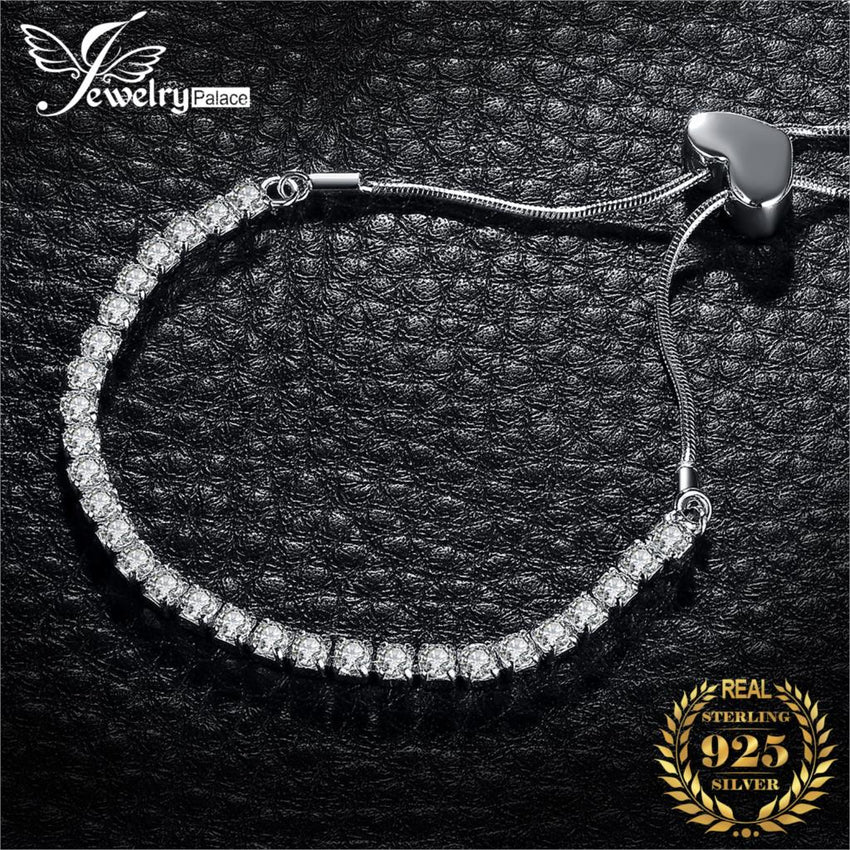 JPalace Love Bracelet 925 Sterling Silver Bracelet Snake Chain Bolo Bracelets For Women Silver 925 Jewelry Making Organizer - Slabiti