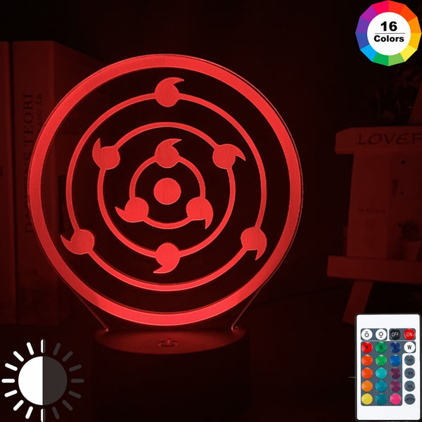 Japanese Anime Naruto Rinnegan Sharingan Cool Kids Night Light Led Color Changing Touch Sensor Light Bedroom Table Lamp Gift - Slabiti
