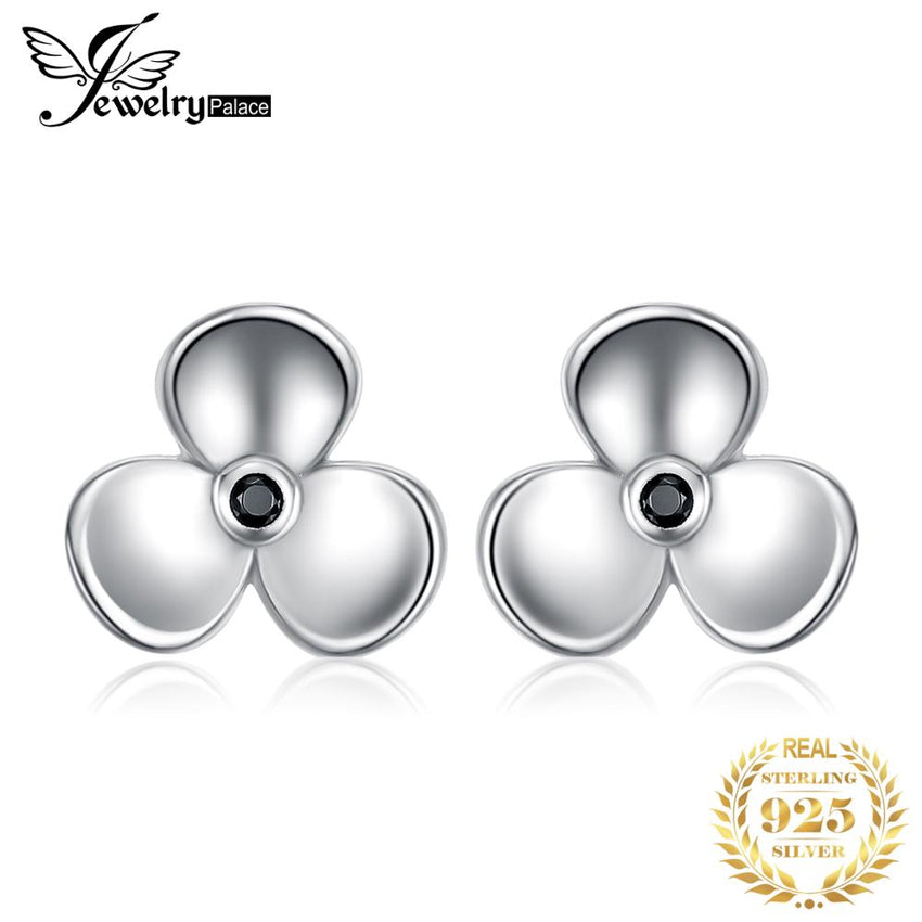JewelryPal ace 925 Sterling Silver Vintage Elegance Genuine Black Spinal Stud Earrings Gift For Women&Girls 2018 Hot Selling - Slabiti