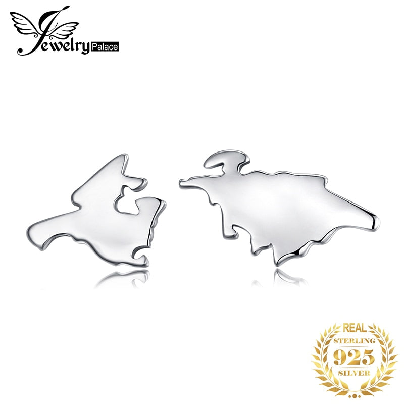 JewelryPalace 925 Sterling Silver Global Travel World Map Earrings For Women As Beautiful Gifts New Hot On Sale - Slabiti