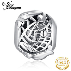 JewelryPalace 925 Sterling Silver Lotus Pond Beads Charms Silver 925 Original For Bracelet Silver 925 original Jewelry Making - Slabiti