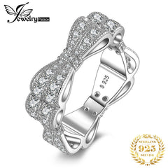 JewelryPalace CZ Wedding Rings 925 Sterling Silver Rings for Women Stackable Anniversary Ring Eternity Band Silver 925 Jewelry - Slabiti