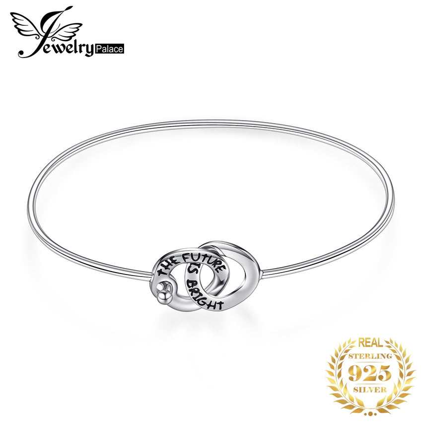 JewelryPalace Circle Love Bracelet 925 Sterling Silver Bracelet Bangles Bracelets For Women Silver 925 Jewelry Making Organizer - Slabiti