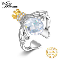 JewelryPalace Crown Bee Cubic Zirconia Rings 925 Sterling Silver Rings for Women Stackable Ring Silver 925 Jewelry Fine Jewelry - Slabiti