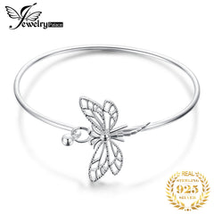 JewelryPalace Dragonfly Bracelet 925 Sterling Silver Bracelet Bangles Bracelets For Women Silver 925 Jewelry Making Organizer - Slabiti