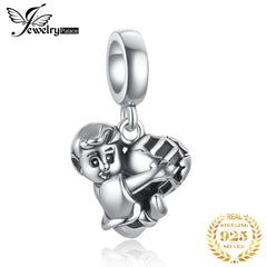 JewelryPalace Football Boy 925 Sterling Silver Beads Charms Silver 925 Original For Bracelet Silver 925 original Jewelry Making - Slabiti