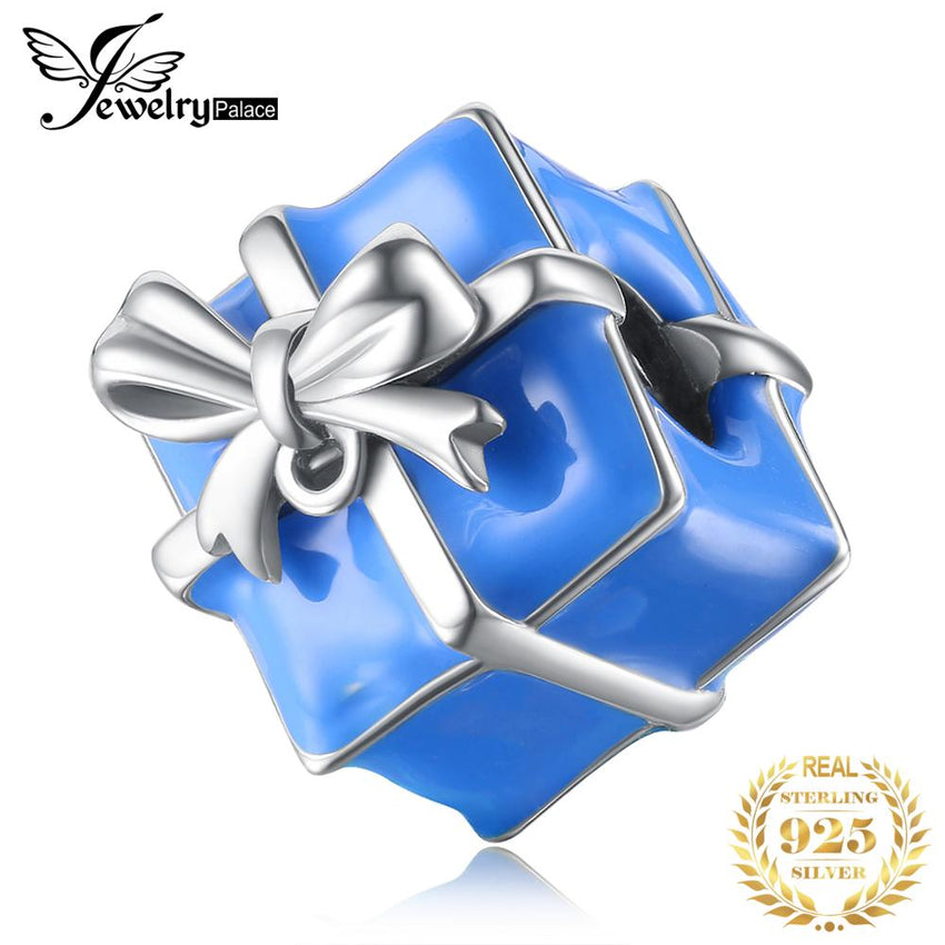 JewelryPalace Gift Box 925 Sterling Silver Beads Charms Silver 925 Original Fit Bracelet Silver 925 original for Jewelry Making - Slabiti