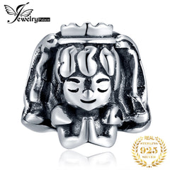 JewelryPalace Girl 925 Sterling Silver Beads Charms Silver 925 Original Fit Bracelet Silver 925 original Bead For Jewelry Making - Slabiti