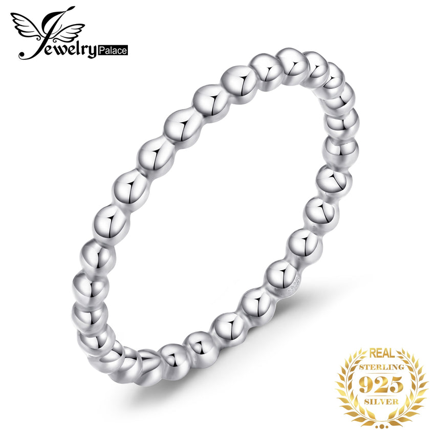 JewelryPalace Heart Rings 925 Sterling Silver Rings for Women Stackable Ring Band Silver 925 Jewelry Fine Jewelry - Slabiti