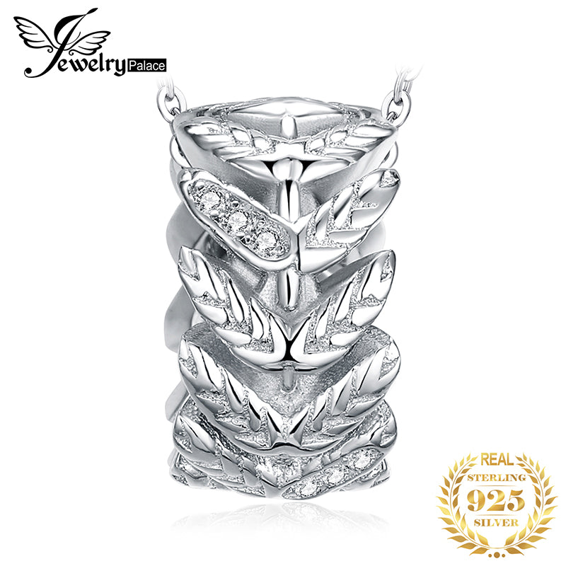 JewelryPalace High Quality Cubic Zirconia Sleek Leaf Pendants For Women Fashion 925 Sterling Silver Jewelry Not Include A Chain - Slabiti