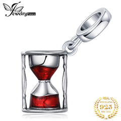JewelryPalace Hourglass 925 Sterling Silver Beads Charms Silver 925 Original For Bracelet Silver 925 original For Jewelry Making - Slabiti