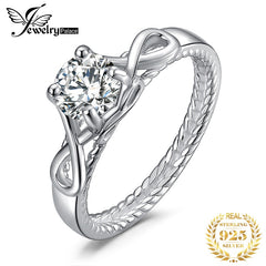 JewelryPalace Infinity CZ Engagement Ring 925 Sterling Silver Rings for Women Anniversary Ring Wedding Rings Silver 925 Jewelry - Slabiti