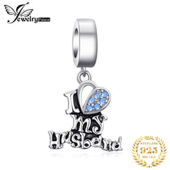 JewelryPalace Love Husband 925 Sterling Silver Beads Charms Silver 925 Original For Bracelet Silver 925 original Jewelry Making - Slabiti