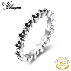 JewelryPalace Vintage 925 Sterling Silver Flower Stackable Ring Beautiful Gifts For Mother And Daughter 2018 New Hot Sale - Slabiti