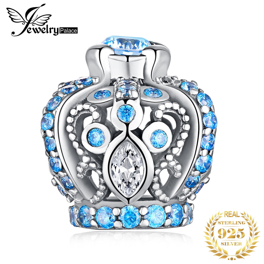 JewelryPalace Vintage Crown 925 Sterling Silver Beads Charms Silver 925 Original Fit Bracelet Silver 925 original Jewelry Making - Slabiti