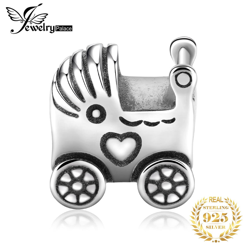 Jewelrypalace 925 Sterling Silver Baby Stroller Pram Charm Pendant New Hot Sale For Women As Beautiful Gifts - Slabiti