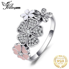 Jewelrypalace 925 Sterling Silver Glitter Daisies Cubic Zirconia Ring Wedding Rings For Woman New Design Jewelry Fashion Rings - Slabiti