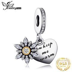 Jewelrypalace 925 Sterling Silver Glitter Snowflakes Heart Charm Bracelets  Gifts For Her Fashion Jewelry Present Charms Metal - Slabiti