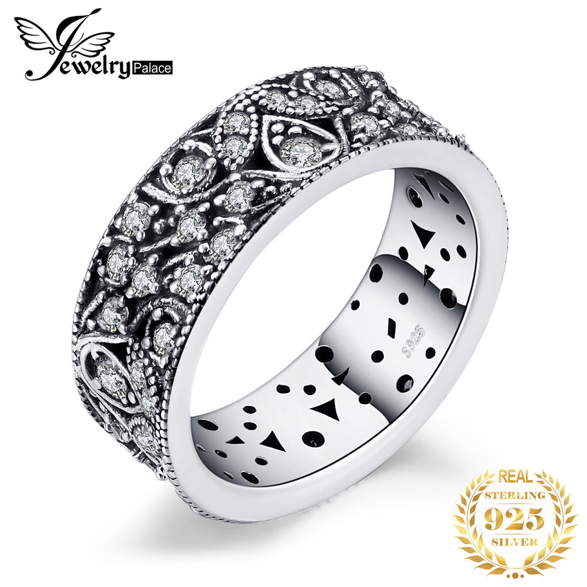 Jewelrypalace 925 Sterling Silver Hollow-out Flower Statement Ring Gifts For Women Anniversary Gifts Fashion Jewelry New - Slabiti