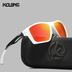 KDEAM Impact Resistance TR90 Men's Sunglasses Polarized Lens Tank Hinges Ultra Light Sun Glasses Bending Freely KD626 - Slabiti