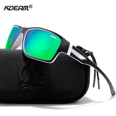 KDEAM Outdoor Polarized Sunglasses Goggles Men Sun Glasses 100%UV Zipper Case Included Sports Eyewear KD510 - Slabiti