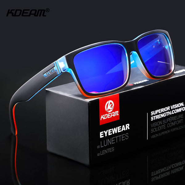 KDEAM Revamp Of Sport Men Sunglasses Polarized Shockingly Colors Sun Glasses Outdoor Driving Photochromic Sunglass With Box - Slabiti