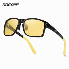 KDEAM TR90 Material Polarized Sunglasses Men Sports Rectangle Frame Sun Glasses Driving Female oculos de sol XL Size KD524 - Slabiti