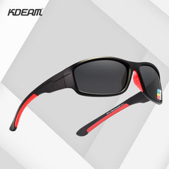 KDEAM Unbreakable TR90 Sport Sunglasses Men Excellent Outdoor Driving Glasses Suit for Any Face Shades KD712 - Slabiti