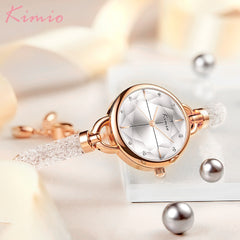 KIMIO Diamond Bracelet Women's Watches Bandage Crystal Watch Women Brand Luxury Female Wristwatch Dropshipping 2019 New Arrivals - Slabiti