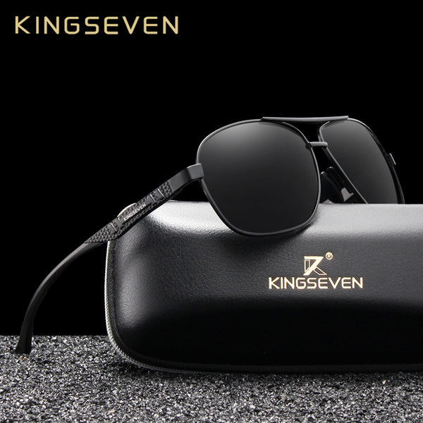 KINGSEVEN 2019 Brand Men Aluminum Sunglasses Polarized UV400 Mirror Male Sun Glasses Women For Men Oculos de sol - Slabiti
