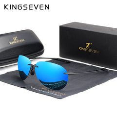 KINGSEVEN 2019 Ultralight TR90 Rimless Sunglasses Men High Quality Frameless Sun Glasses For Women Oculos Feminino - Slabiti