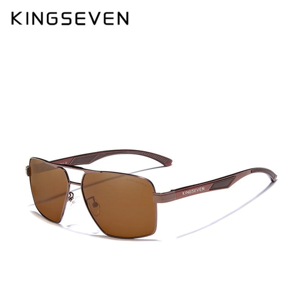 KINGSEVEN Aluminum Men's Sunglasse Polarized Lens Brand Red Design Temples Sun glasses Coating Mirror Glasses Oculos de sol 7719 - Slabiti